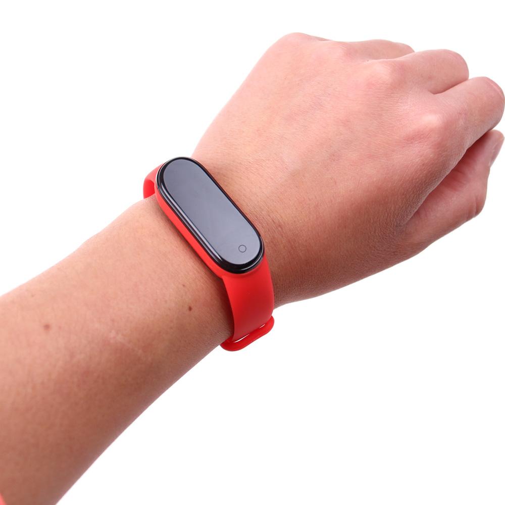 Smart náramek M5 červený - náhled